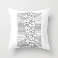 Furr Division White Throw Pillow