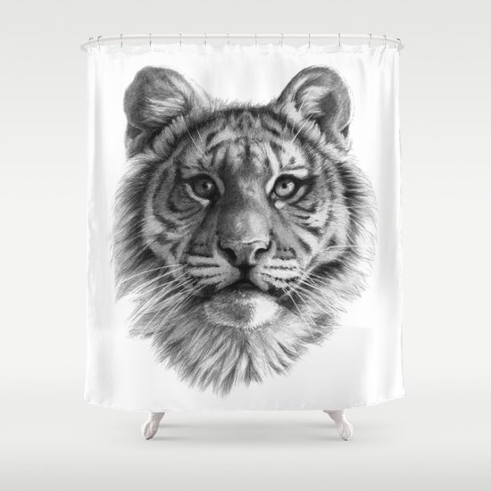 Tiger Cub SK106 Shower Curtain