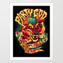 PARTY GOD (red) Art Print