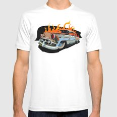 Caddy Rat Rod White Mens Fitted Tee SMALL