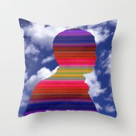 Man In The Sky Throw Pillow