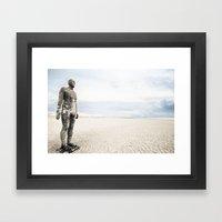 Crosby Beach Man  Framed Art Print