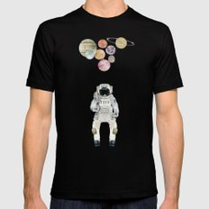 solar collector  SMALL Mens Fitted Tee Black