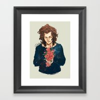 Roses on Your Hands Framed Art Print