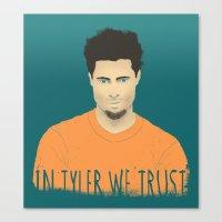 In Tyler we trust Canvas Print