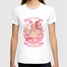 Fight Like A Princess! Womens Fitted Tee White SMALL