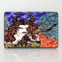 Angel Or Demon In Color iPad Case