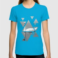 swan Womens Fitted Tee Teal SMALL