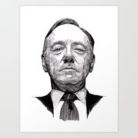 Art Print featuring House of Cards - Francis Underwood by Rik Reimert