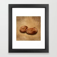 Still Life: Potatoes Framed Art Print