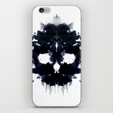 Rorschach skull dark iPhone & iPod Skin