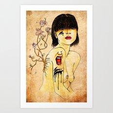 Portrait - asian woman Art Print