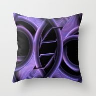 Abstract Purple Geometry Throw Pillow