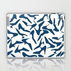 Shoes Navy on White Laptop & iPad Skin