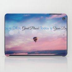 Inspirational Quote, Today is Your Day iPad Case