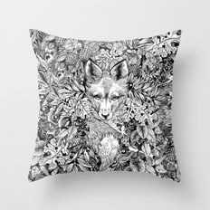 hidden fox Throw Pillow