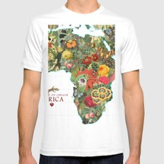 Land of Origin Mens Fitted Tee White SMALL