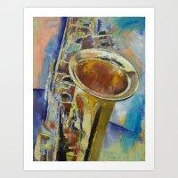 Saxophone Art Print