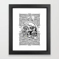 Skullflower Black And Wh… Framed Art Print