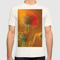 Floral Honeycomb Sunshine Mens Fitted Tee Natural SMALL