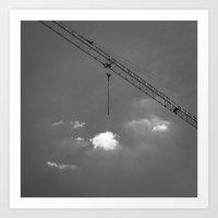 Crane & Clouds Art Print