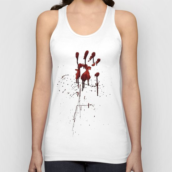 Zombie Attack Bloodprint - Halloween Unisex Tank Top