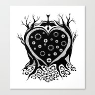 Starry Heart Canvas Print