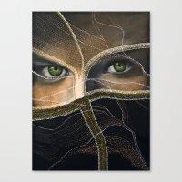 emerald eyes Canvas Print