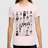 PEEPZ Womens Fitted Tee Light Pink SMALL