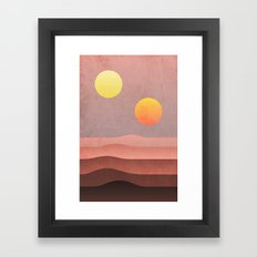 tatooine sunset Framed Art Print
