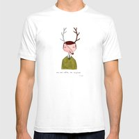 One Real Antler, One Ima… Mens Fitted Tee White SMALL