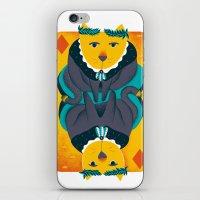 Cat the King of Diamonds iPhone & iPod Skin