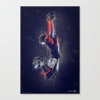 DARK FOOTBALL Canvas Print