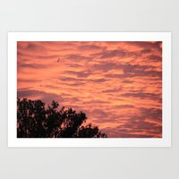 Burning Sunrise Art Print