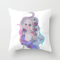 Cosmic Lola Throw Pillow