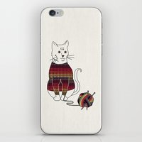 Knitted Cat iPhone & iPod Skin