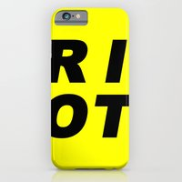 RIOT (BLACK AND YELLOW) iPhone 6 Slim Case