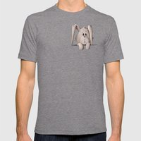 Pocket Bunny Mens Fitted Tee Tri-Grey SMALL
