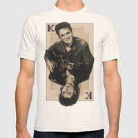 the King of hearts Mens Fitted Tee Natural SMALL