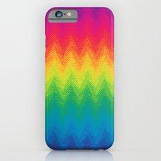 neon rainbow feather chevron  iPhone 6 Slim Case