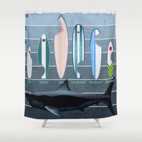 Shark Week - A balanced diet is essential  Shower Curtain