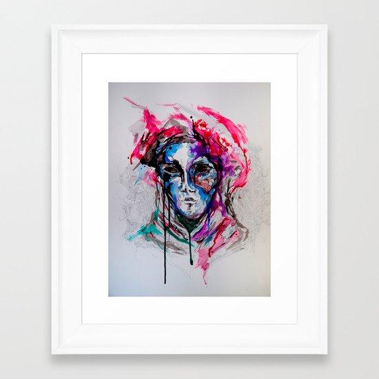 Masq Framed Art Print