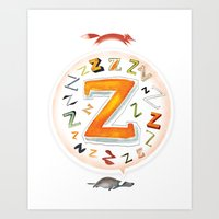 The Quick And The Zed Art Print