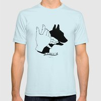 Hand-shadows Mr Dog Mens Fitted Tee Light Blue SMALL