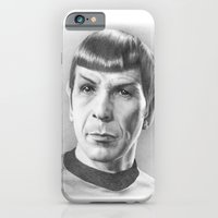 iPhone & iPod Case featuring Spock - Fascinating (Star Trek TOS) by Liz Molnar