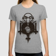 Satan Womens Fitted Tee Athletic Grey SMALL