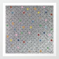 Pin Points Polka Dots Sh… Art Print