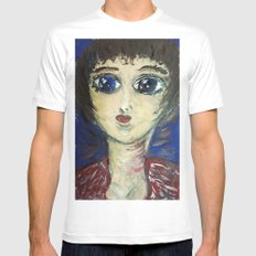 THE GIRL WHO PROTECTED OTHERS FROM TRENT White Mens Fitted Tee SMALL