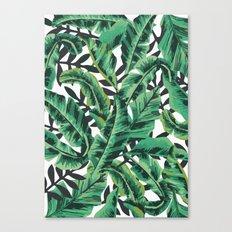 Tropical Glam Banana Leaf Print Canvas Print