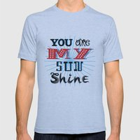 You Are My Sunshine Mens Fitted Tee Athletic Blue SMALL